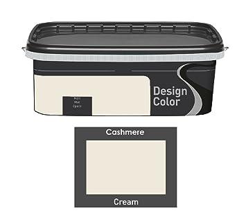 Design Color 2,5 L. Farbige Innenfarbe, Wandfarbe Creme, Cream, Matt