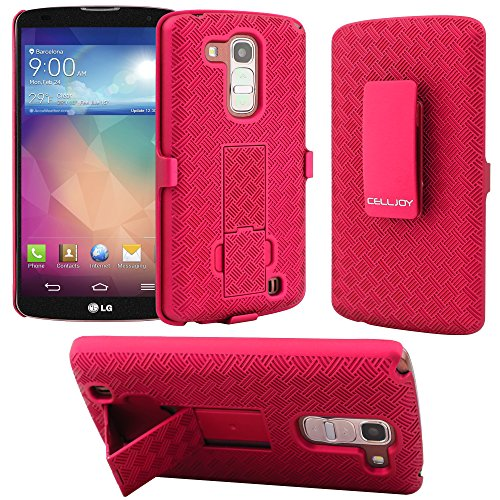 G Pro 2 Case CellJoy® [X-Hatch Armor] LG Optimus G Pro 2 Ultra Fit (PC) Hard Case Cover with ***Belt Clip Holster*** Slim Case Combo For LG G Pro 2 (Pink)