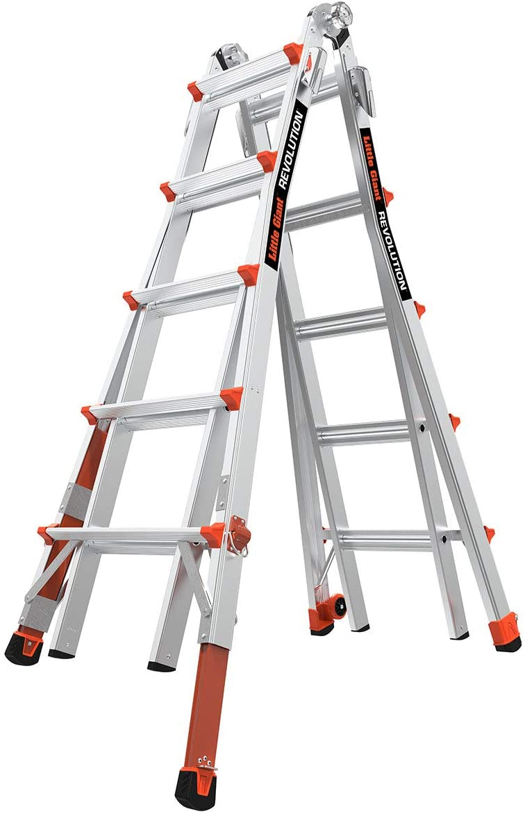 Little Giant Ladders with Ratchet Levelers Multi-Position Ladder