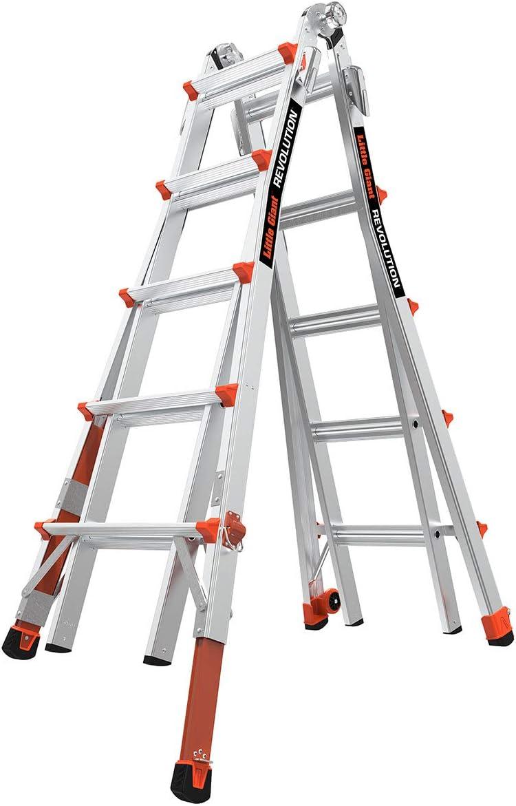 Little Giant Ladders Revolution with Ratchet Levelers Multi-Position Ladder