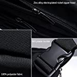FREETOO Waist Pack Bag Fanny Pack for Men&Women Hip Bum Bag with Adjustable Strap for Outdoors Workout Traveling Casual Running Hiking Cycling (Black) 13 AMPLE ROOM, KEEP ORGANIZED: Well constructed with 5 separate zippered pockets of different sizes for all your needs;The largest pocket can easily hold a standard water bottle (16oz); A small hidden zipper compartment inside the main pocket perfect for your valuables for extra security; A flat zippered exterior pocket located behind the waist band, against your body. Provides spacious storage and help keep you organized while maintaining a slim profile DURABLE MATERIAL&LININGS, WEAR-RESISTANT: Made of strong 1000D Polyester+ Exquisite overall craftsmanship with cleanly finished seams, this waist bag is sturdy and built to last yet soft and pliable. It'll make a great addtion for your daily errands and outdoor activities, perfect for walking, running, biking, hiking, traveling, festivals, fairs, concerts and farmers markets etc. QUALITY SOLID ZIPPERS: ZIPPERS are a very important component of a bag and should never be compromised. This waist pack adopts tough and heavy duty zippers, sturdy,easy to slide and working smoothly. Zipper pulls are good-sized and elegant in design. Worry no more about anything falling out and getting lost.