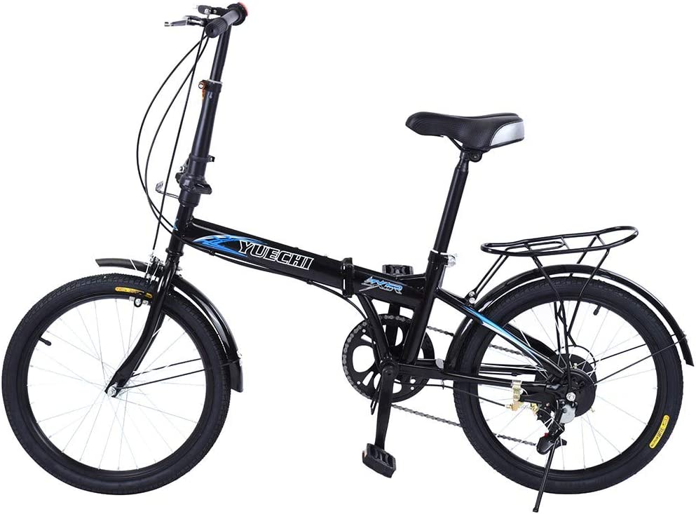 VBBV Outdoor Road Bike Mountain Bike for Men Women Leisure 20in 7 Speed City Folding Mini Compact Bike Bicycle Urban Commuters Adult Student Bicycle