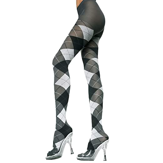 caf745d566323 Amazon.com: MUSIC LEGS Women's 2 Pack Opaque Woven Argyle Pantyhose:  Nylons: Clothing