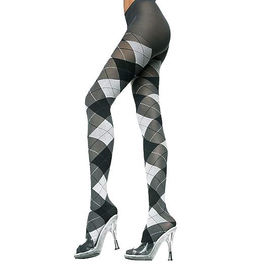 d852d048ef4f2 Amazon.com: MUSIC LEGS Women's 2 Pack Opaque Woven Argyle Pantyhose ...