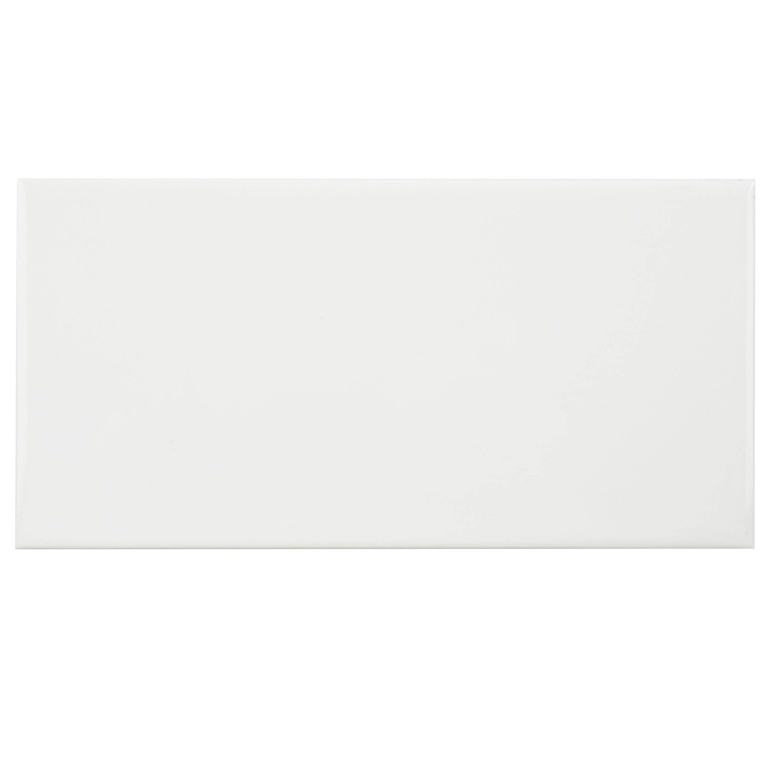 SomerTile WXR3PSGW Pente Subway Ceramic Wall Tile, 3'' x 6'', Glossy White by SOMERTILE