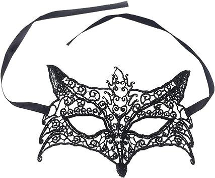 HEALLILY - Máscara de Zorro de Cabra, máscara de Fiesta de Baile ...