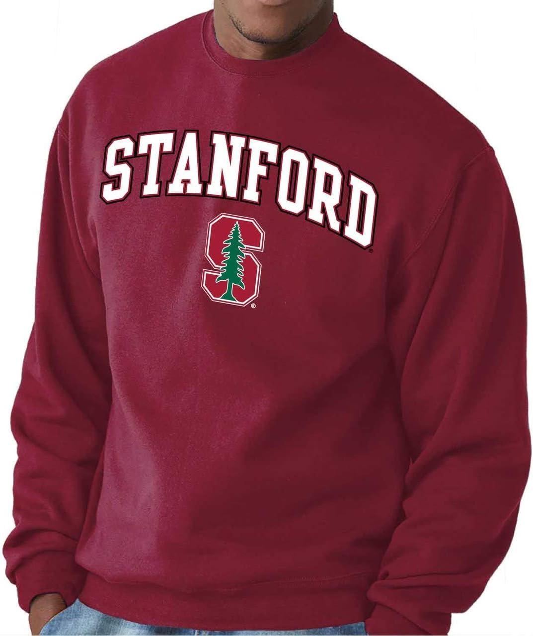 /Cardinal, Campus Colors Campus Farben Stanford Cardinal Erwachsene Arch /& Logo Gameday Crewneck Sweatshirt/