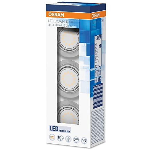 Osram 827 LED - Bombilla, 9 W (3 x 3 W), GU10
