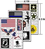 Hard Hat Stickers, Premium Thick Funny Vinyl Decals for Hardhat, Helmet, Toolbox, Laptop, Mug, Car Bumper and More | Waterproof | American Flag