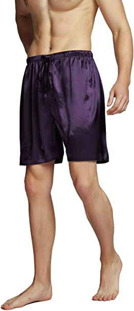 Mobarta Mens Satin Boxers Shorts Silk Pajama Boxer Soft Comfortable Underwear M-3XL