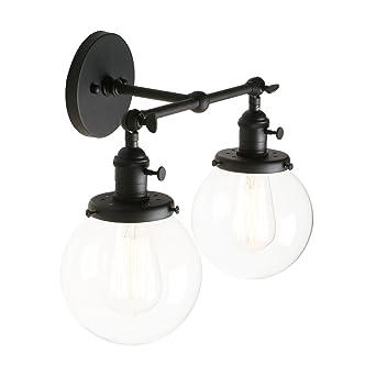Réglable Jour Pathson Verre En Luminaire Abat Applique Rétro 2 N80PXnOZwk