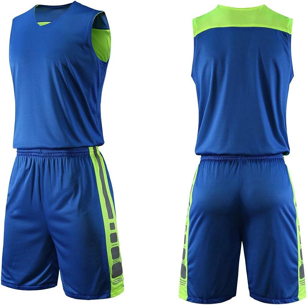 yingfeg bb Basketball Reversible Jersey and Shorts Sports Tank Top w//Athletic Shorts for Men