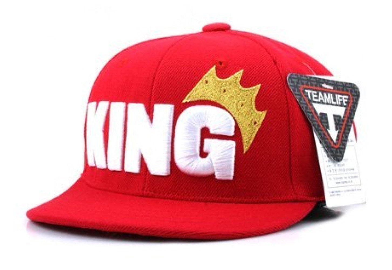 Agibaby Infant & Toddler Kids Hip Hop Snapback Flat Brim Hat Baseball Cap - King Embroidered