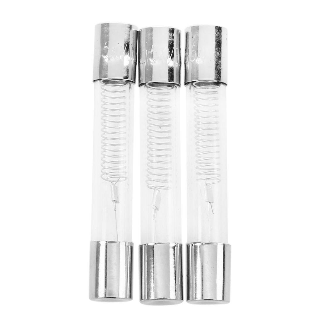 SODIAL(R) Fusible tubo de vidrio 0.65 3 piezas para Horno miniondas