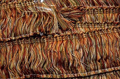 Brush Fabric Fringe - 2 Inch Copper Red Brush Fringe CC500