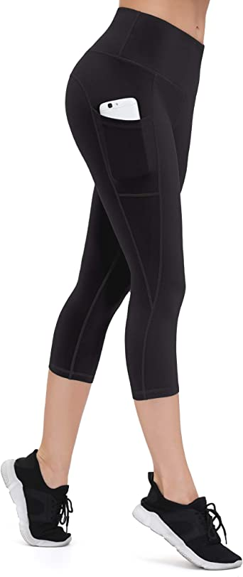 Gym Leggings Women High Waist with Pocket Sports Yoga Workout Compression Leggings Squat Proof Thick Soft Elastic Running Tight Leggings Riding Zumba Cycling Non See Through Anti Cellulite Leggings
