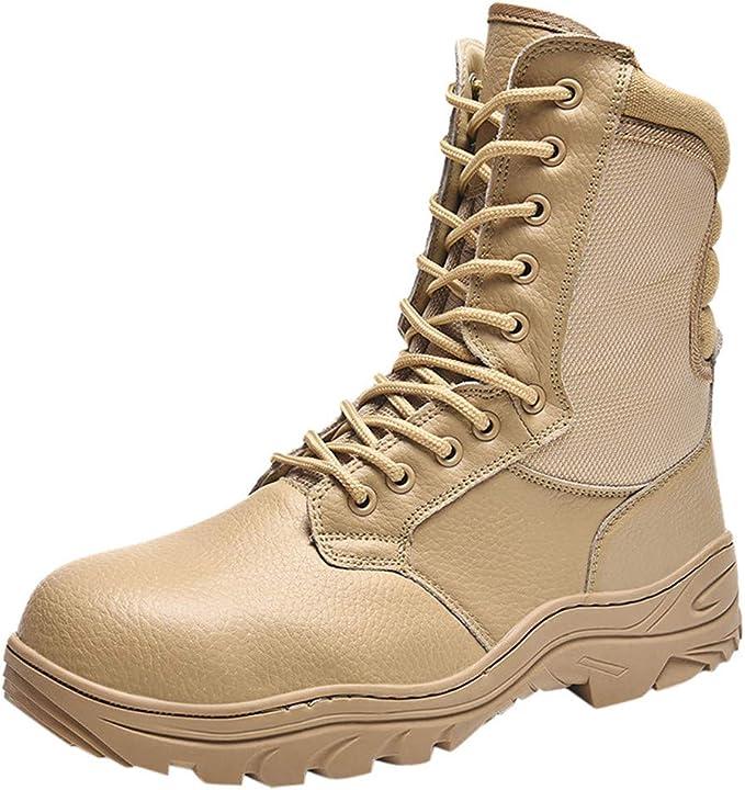 Amazon.com Hopwin Mens Leather Combat Boot