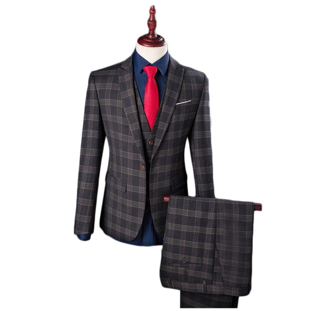 Love Dress Thin Men's Three-Piece Classic Fit Suit Jacket, Pants & Vest 5XL