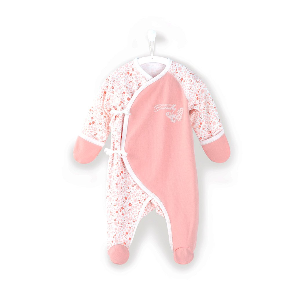 COBROO Baby Footies with Mittens Cotton Baby Onesies 0-6 Months