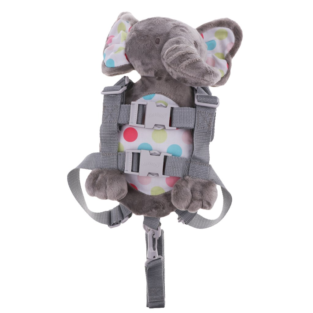 Dolity Baby Kids Anti-Lost Strap Plush Walking Belt Safety Harness Leash Backpack - Elephant, as described