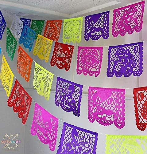 Amazon Com 5 Pack Tissue Paper Papel Picado Banner Mexican