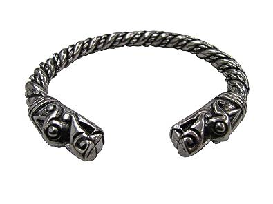 Grand bracelet Viking Tête de Dragon en étain \u2013 tel que vu dans la deuxième  série