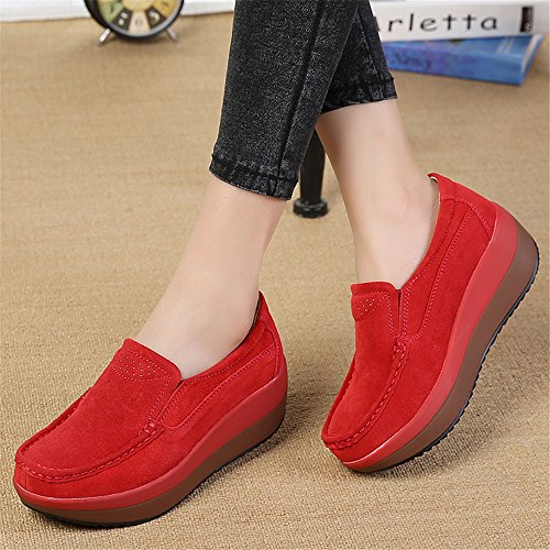 Non Fitness Platform Ladies Slip Shoe Shake Women Female Sport Red Shoe Sneakers Shoes gcwTcqHA