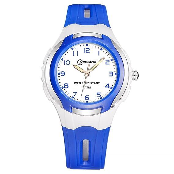 Niño] Reloj de cuarzo Encantador] Impermeable Natación Luminoso Relojes digitales Niña-J