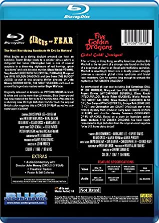 Amazon com: CIRCUS OF FEAR/FIVE GOLDEN DRAGONS [Blu-ray