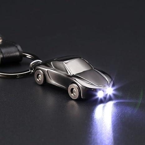 Multifunction Zinc Alloy Car Keychain Flashlight Cigarette Lighter