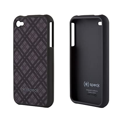 pretty nice 85d0d 3e54d Speck Products Fitted Case for iPhone 4 - Black/Gray - Fits AT&T iPhone