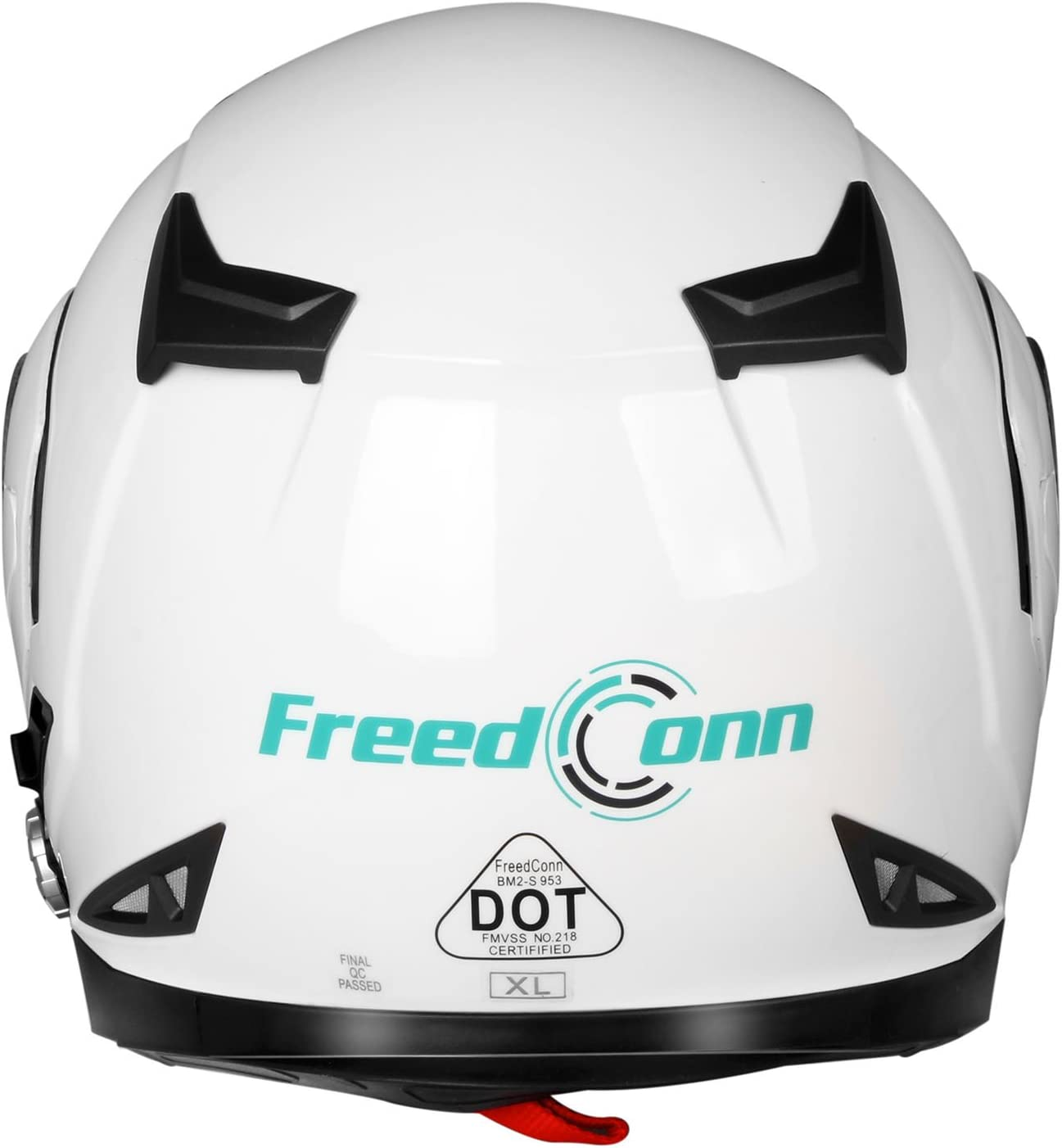 Range 500M,2-3Riders Pairing,FM radio,Waterproof Matte Black, XL Motorcycle Bluetooth Helmets FreedConn Flip up Dual Visors Full Face Helmet Built-in Integrated Intercom Communication System