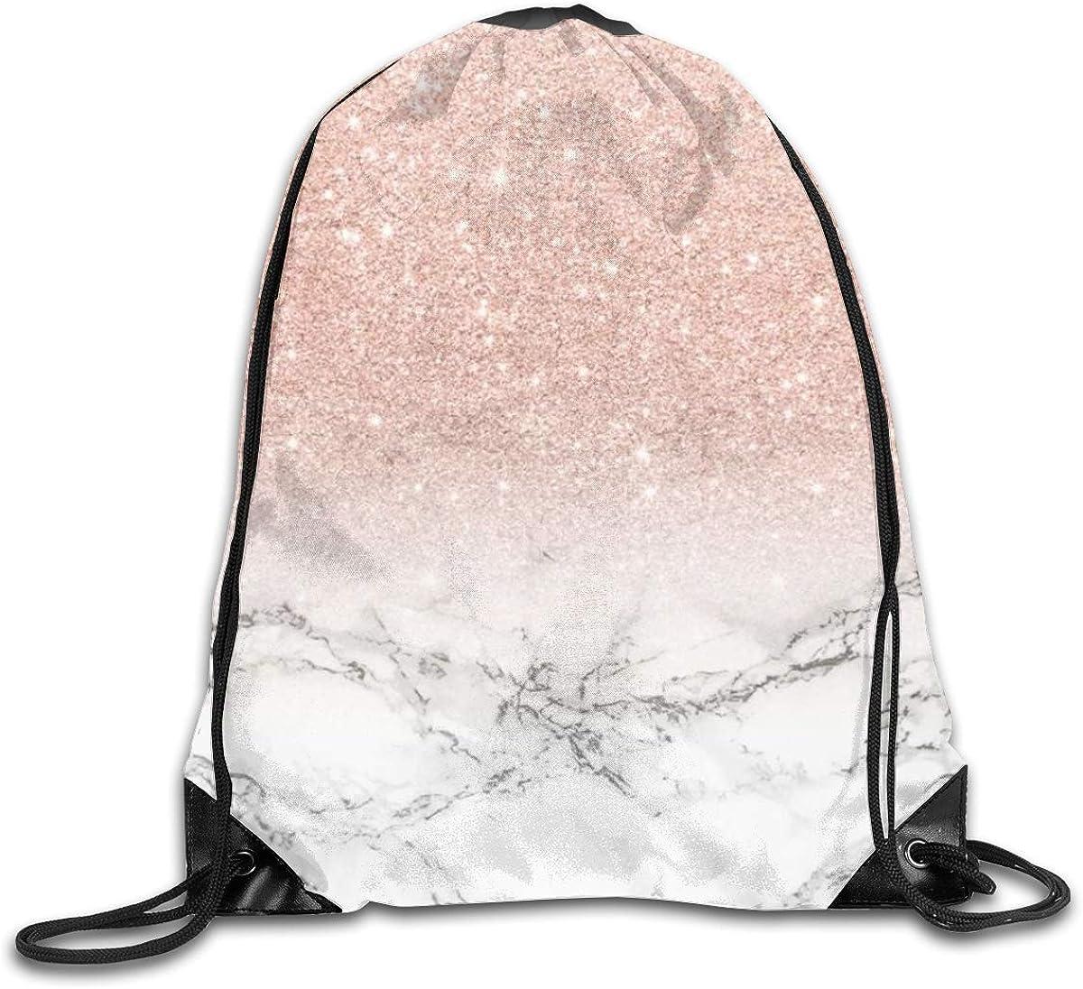 Sports Bags Gym Bag, Drawstring Bags Modern Rose Gold Pink