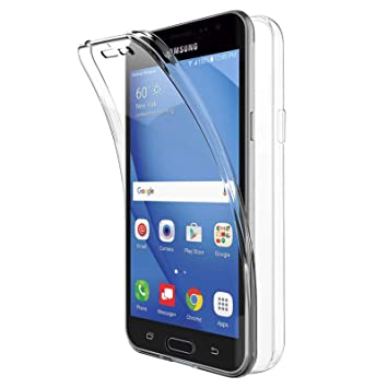 TBOC Funda para Samsung Galaxy J3 (2016) - J3 - Carcasa [Transparente] Completa [Silicona TPU] Doble Cara [360 Grados] Protección Integral Total ...