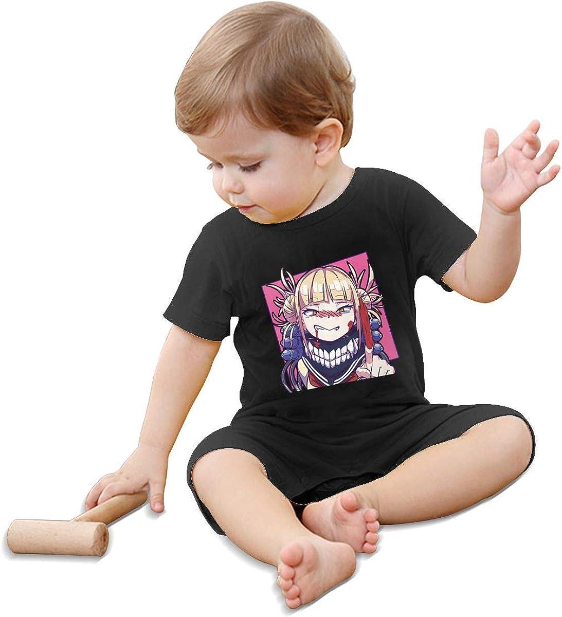 Qwertyi Baby My Hero Academia-Himiko Toga Short Sleeve Jumpsuit