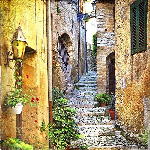 XXXL Canvas Unframed Print 24 x 24 XXL Canvas Unframed Print Beautiful Old Streets Of Italian Villages