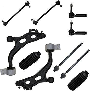 Detroit Axle All 4 Inner /& Outer Tie Rod Ends Brand New 12 Piece Front Suspension Kit fits 3.0L Models Only 2 Lower Ball Joints 2 Front Sway Bar End Links 2 Rack Boots 2 Lower Control Arms