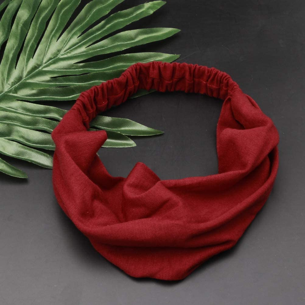 kuou Elastic Bandana Headband,Soft and Comfortable Wide Stretchy Headwrap for Women and Men
