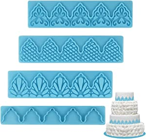 Mity rain Cake Fondant Embossing Mold/Lace Embossed cutter/Relief Cake Border Mould for Sugarcraft Baking Mold Cake Decor Tool Cupcake Decorating