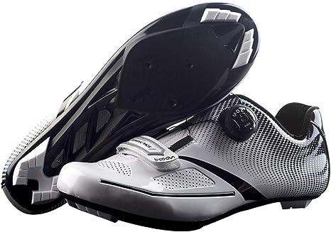 HBRT Zapatos de Ciclismo de Carretera para Hombres, Zapatos de ...