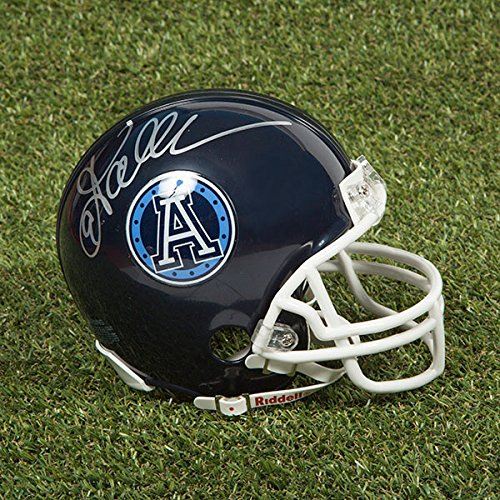 - AJ Sports World Damon Allen Toronto Argonauts Autographed CFL Football Mini-Helmet