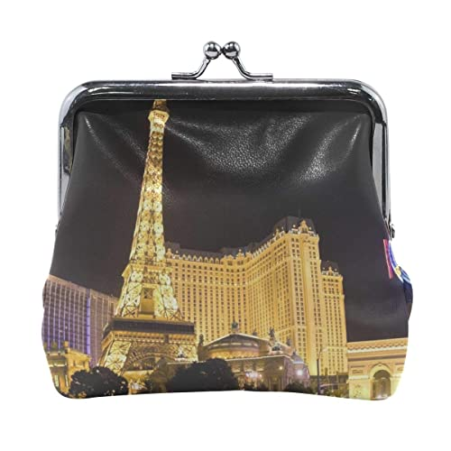 Amazon.com: Rh Studio Coin Purse Las Vegas Buildings Night ...