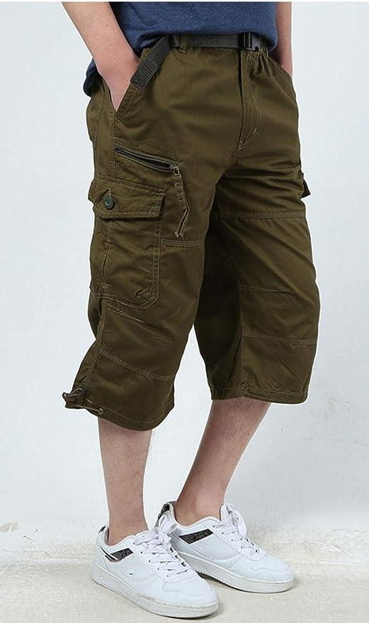 Bermudas Estilo Cargo Hombre,Pantalones Cortos de Verano para ...