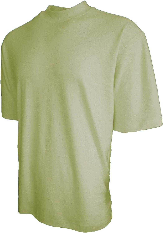 Good Life Mens Cotton Mock Neck Shirt Pre-Shrunk