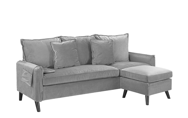 Amazon.com: Sofá de salón clásico de terciopelo seccional ...