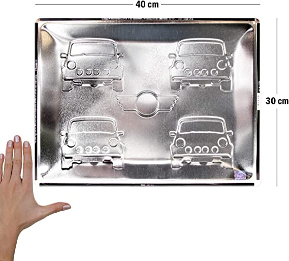 Four Cars Mini Colours Advertising Retro Vintage Metal Sign