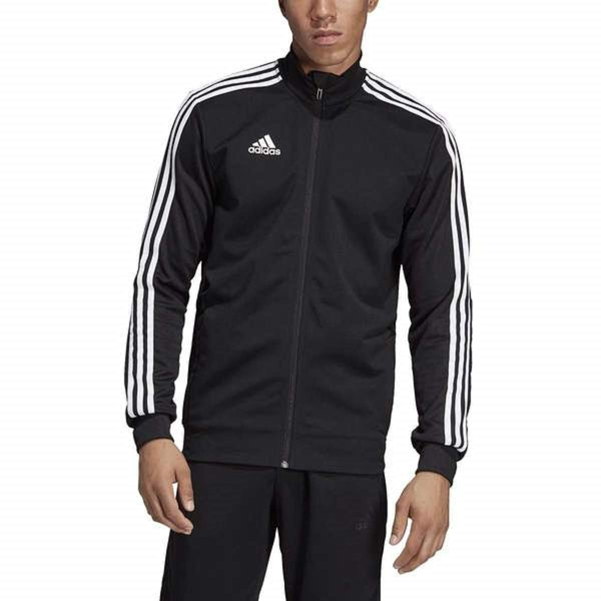 adidas Men's Tiro 19 Track Suit (2XL Jacket/XL Pant, Black/White) by adidas