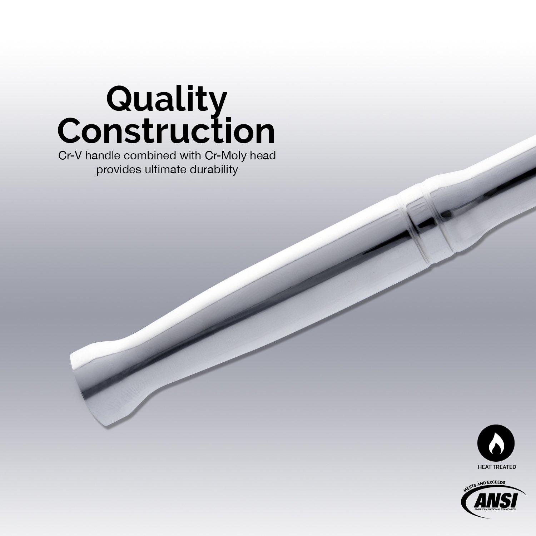 Neiko 00211A 1//2 Drive Extension Breaker Bar 18 Length Chrome-Vanadium Steel Rotating Head