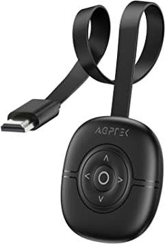 4K Wireless HDMI Display Dongle Adaptador, AGPTEK WiFi Streaming Video Receptor Compatible con Android/ iOS/ PC/ TV/ Monitor/ Proyector, Miracast ...