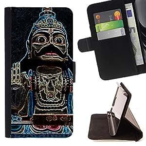 - Buddha Temple Religion Culture - Estilo PU billetera de cuero del soporte del tir???¡¯????n [solapa de cierre] Cubierta- For Samsung Galaxy Note 3 III £¨ Devil Case £©